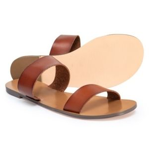 New Leather two strap sandals sz 6 J Crew